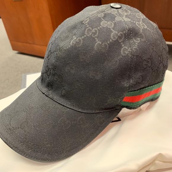 686bd9d4f92 Gucci Other - Gucci Men s Black Canvas Baseball Hat